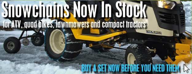Snowchains For ATV, Quad Bikes, Lawnmowers & Compact Tractors